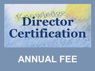 Director Certification: Annual Renewal Fee