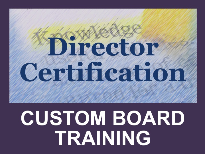 Director Certification: Custom Board Training