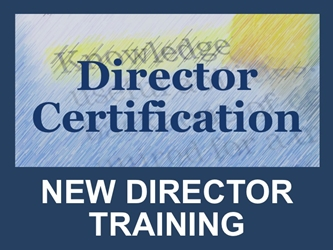 Director Certification: New Director Training