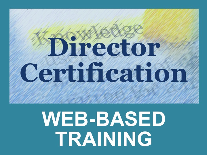 Director Certification: Webinars